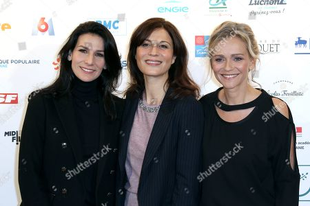 Marie Drucker, Helene Medigue and Claire Borotra