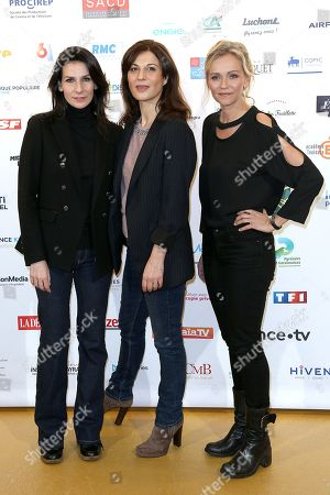Stock Photo of Marie Drucker, Helene Medigue and Claire Borotra