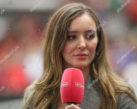 Stock Image of Great Britain v Hungary -   Laura Robson working for BT Sport
