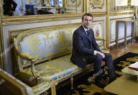 Stock Picture of French President Emmanuel Macron