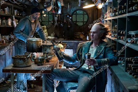 Usman Ally as Hook-Handed Man and Neil Patrick Harris as Count Olaf