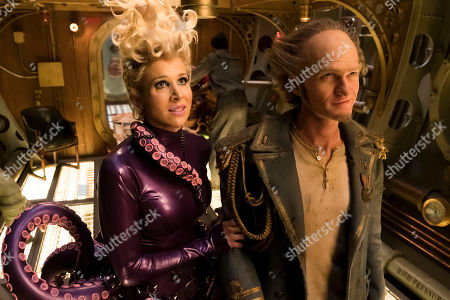 Lucy Punch as Esme Squalor and Neil Patrick Harris as Count Olaf
