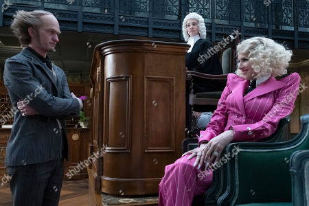 Neil Patrick Harris as Count Olaf, Joan Cusack as Justice Strauss and Lucy Punch as Esme Squalor