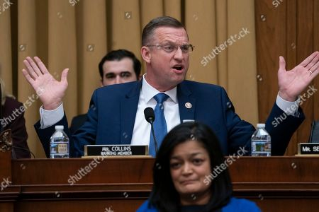 Rep. Doug Collins, R-Georgia, the top Republican on the House Judiciary Committee, objects to Judiciary Committee Chairman Jerrold Nadler, D-N.Y., for summoning Acting Attorney General Matthew Whitaker before the Democrat-controlled panel on Capitol Hill, in Washington