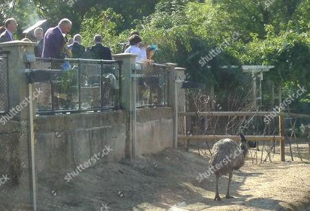 Ken Livingstone watches an emu