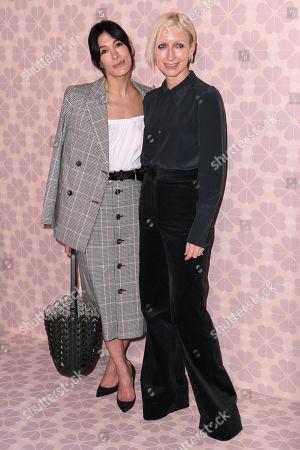 Stock Photo of Athena Calderone and Nicola Glass