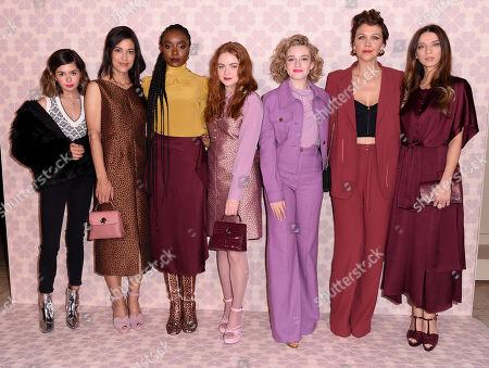 Stock Picture of Addison Riecke, Julia Jones, KiKi Layne, Sadie Sink, Julia Garner, Maggie Gyllenhaal and Angela Sarafyan