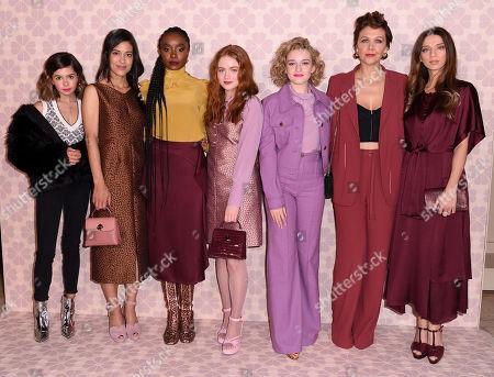 Stock Image of Addison Riecke, Julia Jones, KiKi Layne, Sadie Sink, Julia Garner, Maggie Gyllenhaal and Angela Sarafyan