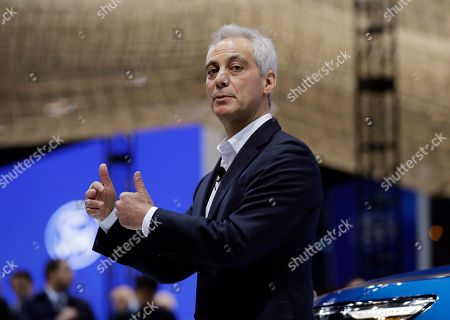 Chicago Mayor Rahm Emanuel speaks during the media preview of the Chicago Auto Show at McCormick Place, in Chicago. Ford Motor Company said Thursday that it will invest $1 billion in its Chicago-area manufacturing operations to expand production of its Ford Explorer and Lincoln Aviator sport utility vehicles.The announcement, made at the Chicago Auto Show, will add 500 jobs to two manufacturing facilities, the assembly plant and stamping plant, said Joe Hinrichs, Ford's president of global operations. The expansion will bring the total number of workers at its Chicago-area facilities to 5,800. Chicago Auto Show will be open to the public February 9 - 17
