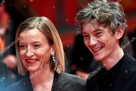 French actress Aurelia Petit (L) and French actor Swann Arlaud arrive for the premiere of 'By the Grace of God' (Grace a Dieu) during the 69th annual Berlin Film Festival, in Berlin, Germany, 08 February 2019. The movie is presented in the Official Competition at the Berlinale that runs from 07 to 17 February.