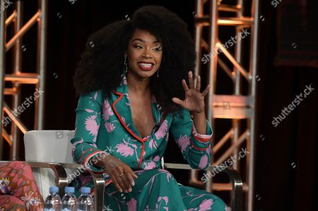 """Chantel Riley participates in the """"Frankie Drake Mysteries"""" and """"Murdoch Mysteries"""" panel during the Ovation portion of the TCA Winter Press Tour, in Pasadena, Calif"""