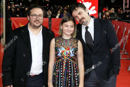 Stock Image of Teddy Schwarzman, Anna Pniowsky and Casey Affleck