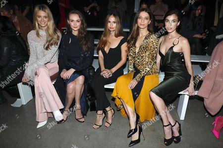 Editorial image of Cushnie show, Front Row, Fall Winter 2019, New York Fashion Week, USA - 08 Feb 2019