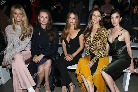 Stock Image of Kate Bock, Andi Matichak, Debby Ryan, Angela Sarafyan, Rainey Qualley in the front row
