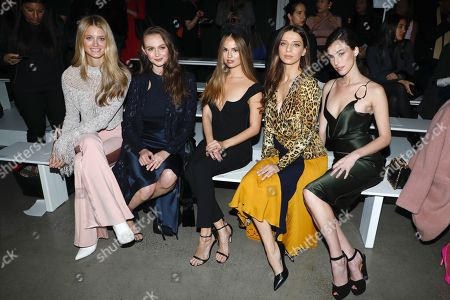 Editorial picture of Cushnie show, Front Row, Fall Winter 2019, New York Fashion Week, USA - 08 Feb 2019