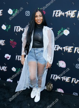 """Melanie Fiona poses at the """"Fem The Future"""" brunch to celebrate nominated women in music at Ysabel, in West Hollywood, Calif"""