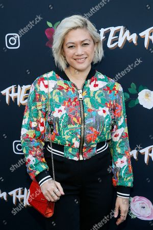 """MILCK, Connie K. Lim. MILCK poses at the """"Fem The Future"""" brunch to celebrate nominated women in music at Ysabel, in West Hollywood, Calif"""