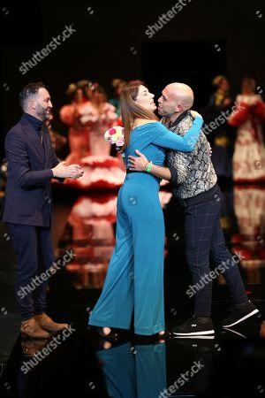 Designer Alonso Cozar and Raquel Revuelta on the catwalk