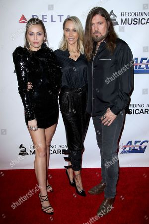 Miley Cyrus, Letitia Cyrus and Billy Ray Cyrus