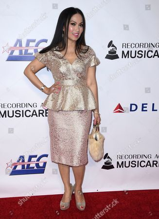 Ha Phuong arrives at MusiCares Person of the Year honoring Dolly Parton, at the Los Angeles Convention Center