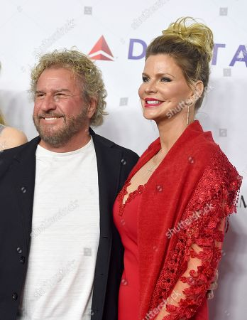 Sammy Hagar, Kari Karte. Sammy Hagar, left, and Kari Karte arrive at MusiCares Person of the Year honoring Dolly Parton, at the Los Angeles Convention Center