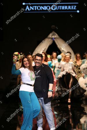 Antonio Gutierrez and Raquel Revuelta on the catwalk