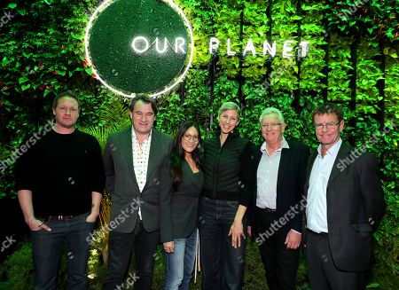 Cinematographer Jamie McPherson, Producer Alastair Fothergill, Lisa Nishimura - NetflixÕs VP of original documentary and comedy, Cinematographer Sophie Darlington, Producer Keith Scholey and Mark Wright - Scientific and Conservation Advisor, WWF at a private press screening for Netflix's upcoming nature doc series Our Planet, launching globally on April 5th.