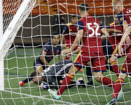 Real Salt Lake goalkeeper Andrew Putna #51 makes a point blank save during the Pacific Rim Cup match between Real Salt Lake and Iwaki FC at Aloha Stadium in Honolulu , HI - Michael Sullivan/CSM