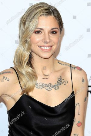 Christina Perri arrives for the 2019 MusiCares Person of the Year Tribute in Los Angeles, California, USA 08 February 2019. MusiCares Person of the Year Tibute honored US musician Dolly Parton for her extraordinary creative accomplishments and significant charitable work.