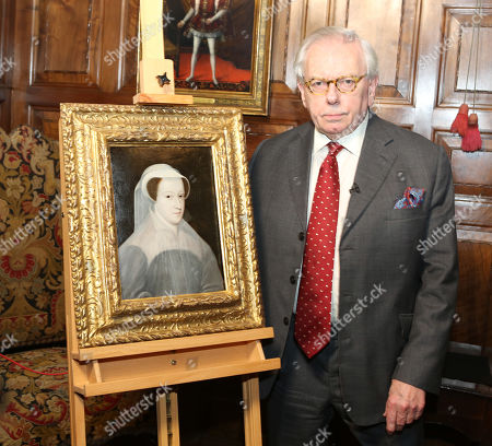 Editorial image of Dr David Starkey unveiling a rare portrait of Mary Queen of Scots at Hever Castle, Kent, UK - 08 Feb 2019