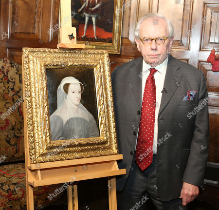 Dr David Starkey unveils a rare portrait of Mary Queen of Scots as it goes on public display at Hever Castle for the first time.