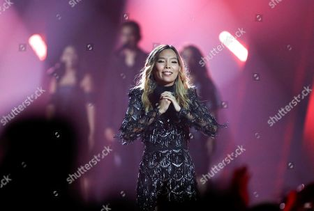 Dami Im performs her latest single 'Dreamer' at the conclusion of the 2019 Eurovision - Australia Decides final in Gold Coast, Australia, 09 February 2019. Ten artists performed at the 'Eurovision - Australia Decides' event for their chance to represent Australia at the upcoming Eurovision Song Contest 2019. The final of the ESC will take place in Tel Aviv, Israel on 18 May 2019.