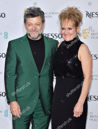 Andy Serkis and Lorraine Ashbourne attending the BAFTA Nespresso Nominees party