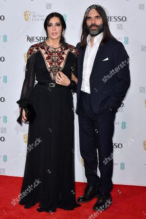 Nadine Labaki and Khaled Mouzanar attending the BAFTA Nespresso Nominees party