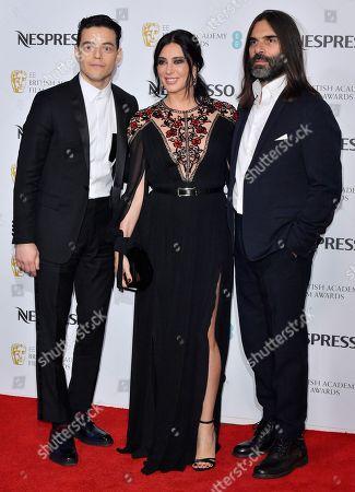 Rami Malek, Nadine Labaki and Khaled Mouzanar attending the BAFTA Nespresso Nominees party