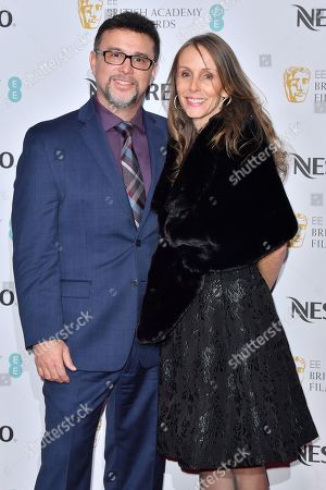 Frank A. MontaNo and guest attending the BAFTA Nespresso Nominees party
