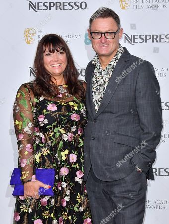 Jeff Pope (R) and guest attending the BAFTA Nespresso Nominees party