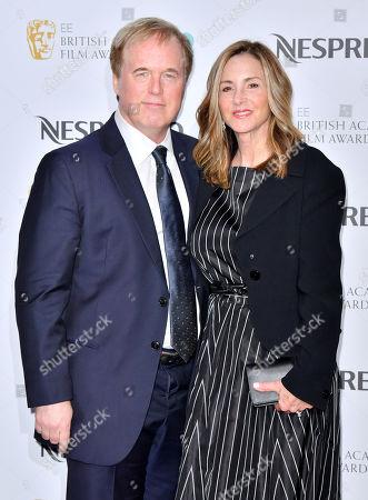 Brad Bird and Elizabeth Canney attending the BAFTA Nespresso Nominees party
