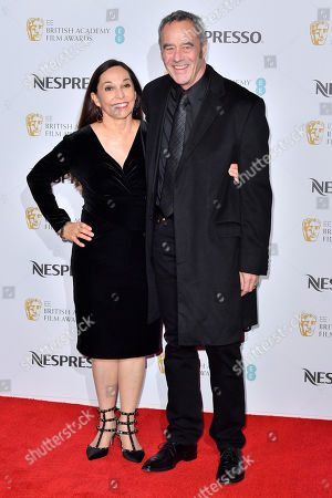 Jim Morris (R) and guest attending the BAFTA Nespresso Nominees party