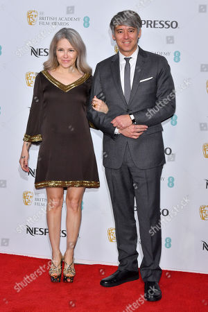 Tom Cross (R) and guest attending the BAFTA Nespresso Nominees party