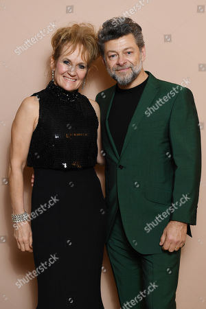 Exclusive - Lorraine Ashbourne and Andy Serkis attending the BAFTA Nespresso Nominees party