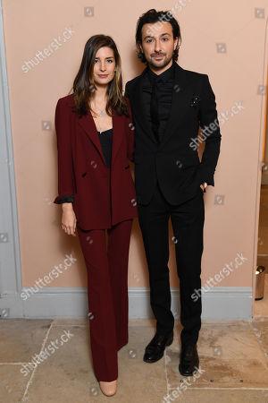 Exclusive - Nettie Wakefield and Alex Zane attending the BAFTA Nespresso Nominees party