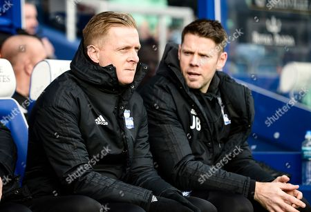 Stock Photo of Garry Monk first team manager of Birmingham City with James Beattie first team coach