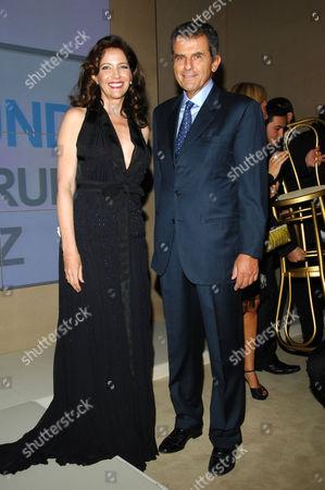 Stock Image of Melba Ruffo Di Calabria and Ferruccio Ferragamo