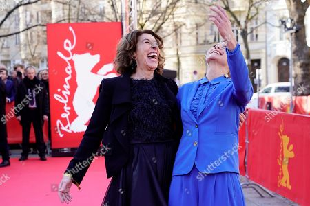 Adele Neuhauser (L) and Trine Dyrholm arrive for the premiere of 'Brecht' during the 69th annual Berlin Film Festival, in Berlin, Germany, 09 February 2019. The movie is presented out of Competition at the Berlinale that runs from 07 to 17 February.