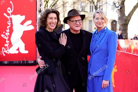 Adele Neuhauser (L), German actor Burghart Klaussner and Trine Dyrholm arrive for the premiere of 'Brecht' during the 69th annual Berlin Film Festival, in Berlin, Germany, 09 February 2019. The movie is presented out of Competition at the Berlinale that runs from 07 to 17 February.