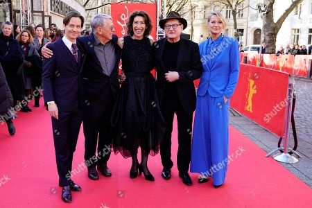 Tom Schilling, German director Heinrich Breloer, Adele Neuhauser , German actor Burghart Klaussner and Trine Dyrholm arrive for the premiere of 'Brecht' during the 69th annual Berlin Film Festival, in Berlin, Germany, 09 February 2019. The movie is presented out of Competition at the Berlinale that runs from 07 to 17 February.