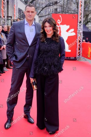 Heiko Kiesow and Iris Berben arrive for the premiere of 'Brecht' during the 69th annual Berlin Film Festival, in Berlin, Germany, 09 February 2019. The movie is presented out of Competition at the Berlinale that runs from 07 to 17 February.