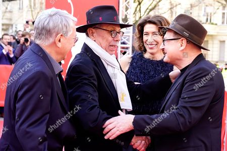 German director Heinrich Breloer, Festival Director Dieter Kosslick, Austrian actress Adele Neuhauser and German actor Burghart Klaussner arrive for the premiere of 'Brecht' during the 69th annual Berlin Film Festival, in Berlin, Germany, 09 February 2019. The movie is presented out of Competition at the Berlinale that runs from 07 to 17 February.