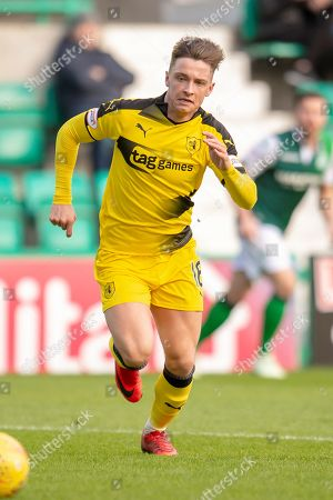 Nathan Flanagan (#16) of Raith Rovers FC during the William Hill Scottish Cup match between Hibernian FC and Raith Rovers FC at Easter Road Stadium, Edinburgh